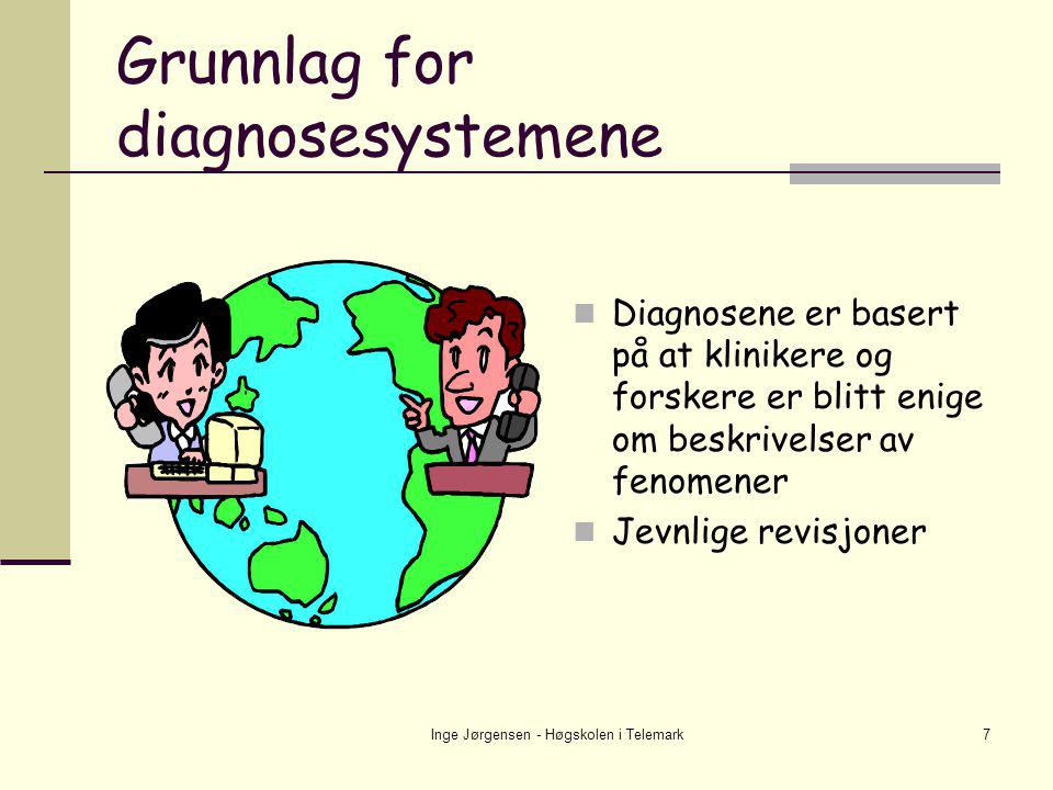 Grunnlag for diagnosesystemene