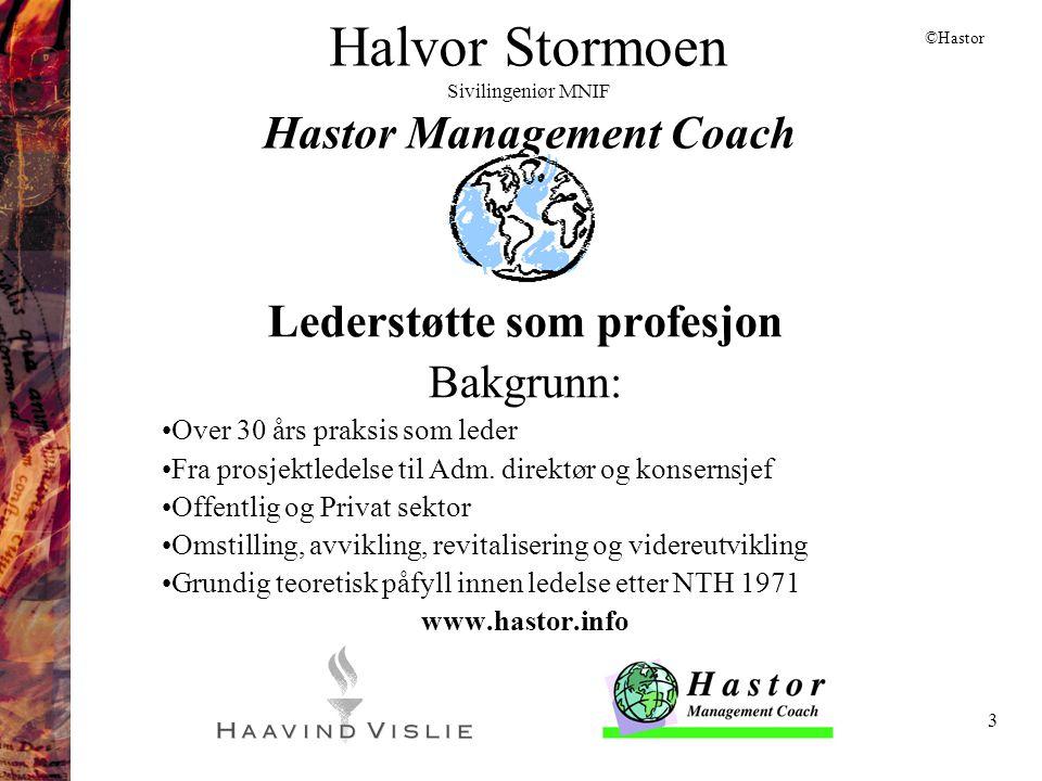 Halvor Stormoen Sivilingeniør MNIF Hastor Management Coach