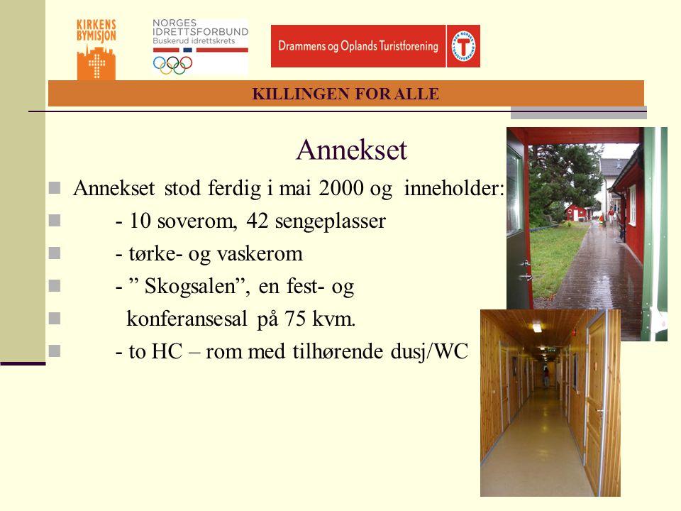 Annekset Annekset stod ferdig i mai 2000 og inneholder: