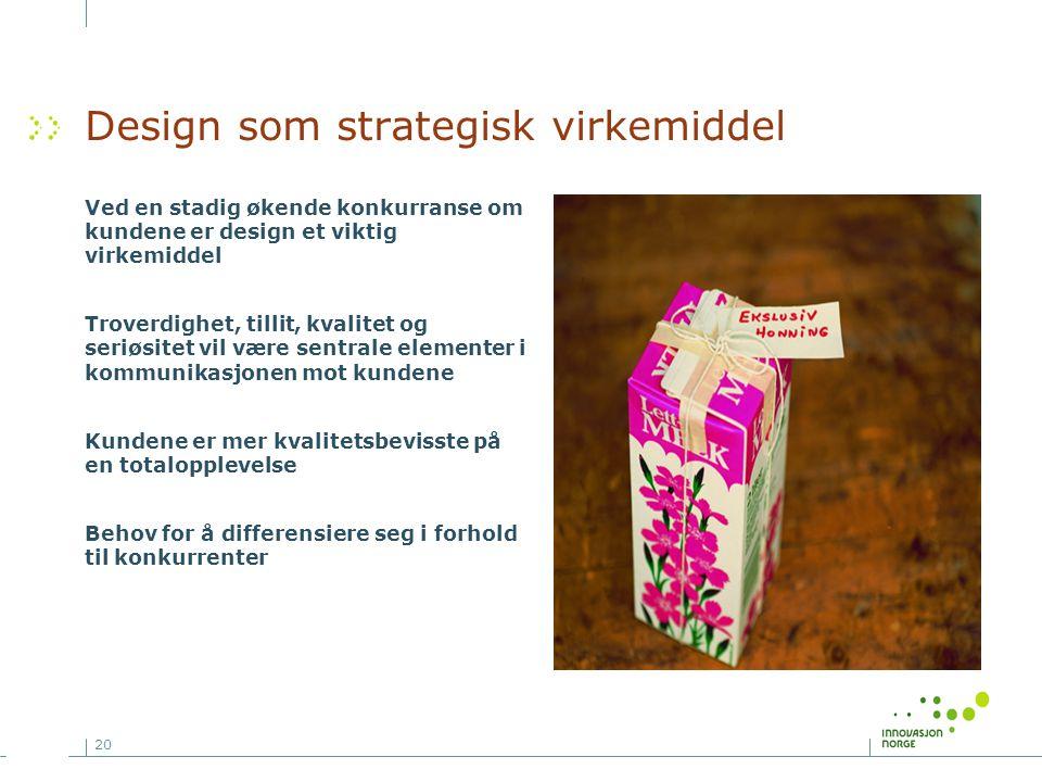 Design som strategisk virkemiddel