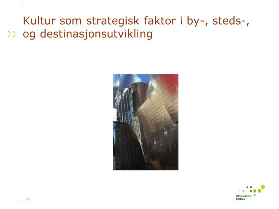 Kultur som strategisk faktor i by-, steds-, og destinasjonsutvikling