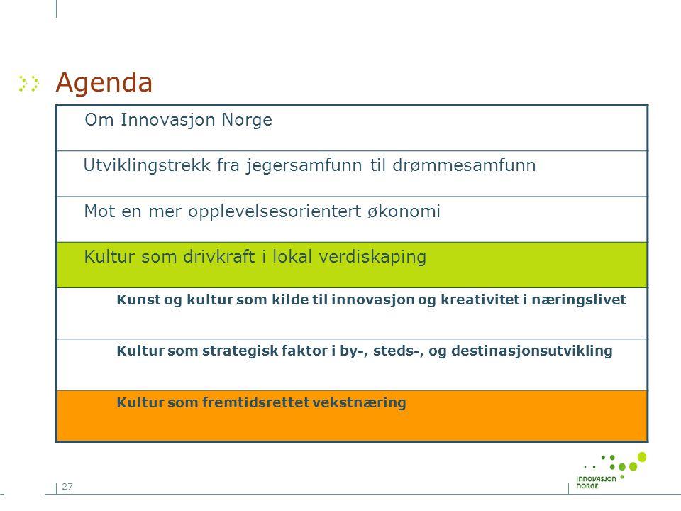 Agenda Om Innovasjon Norge