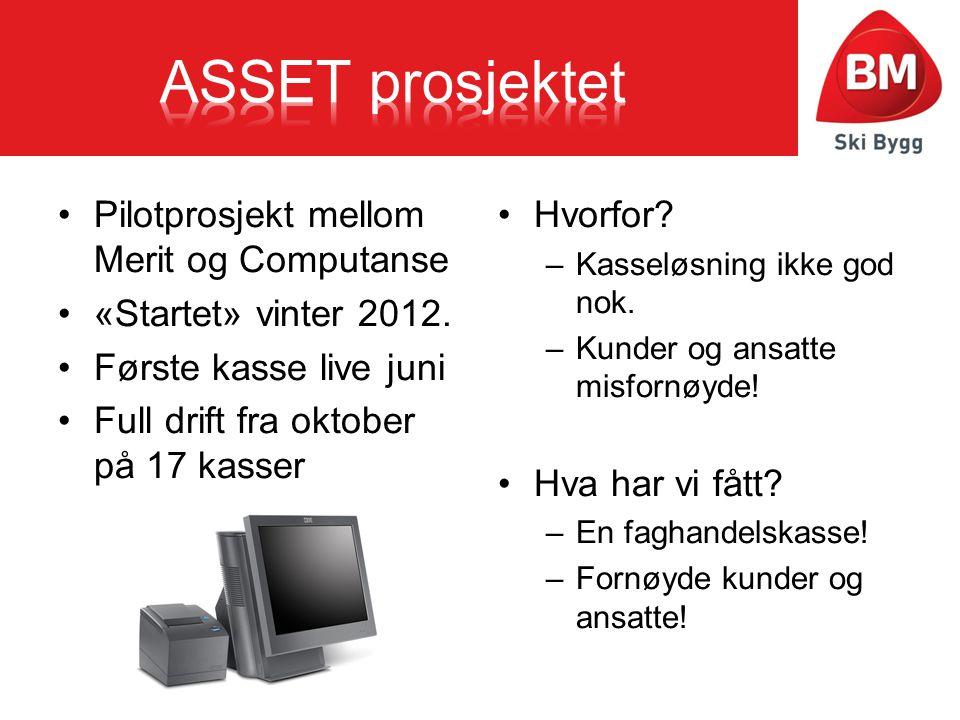 ASSET prosjektet Pilotprosjekt mellom Merit og Computanse