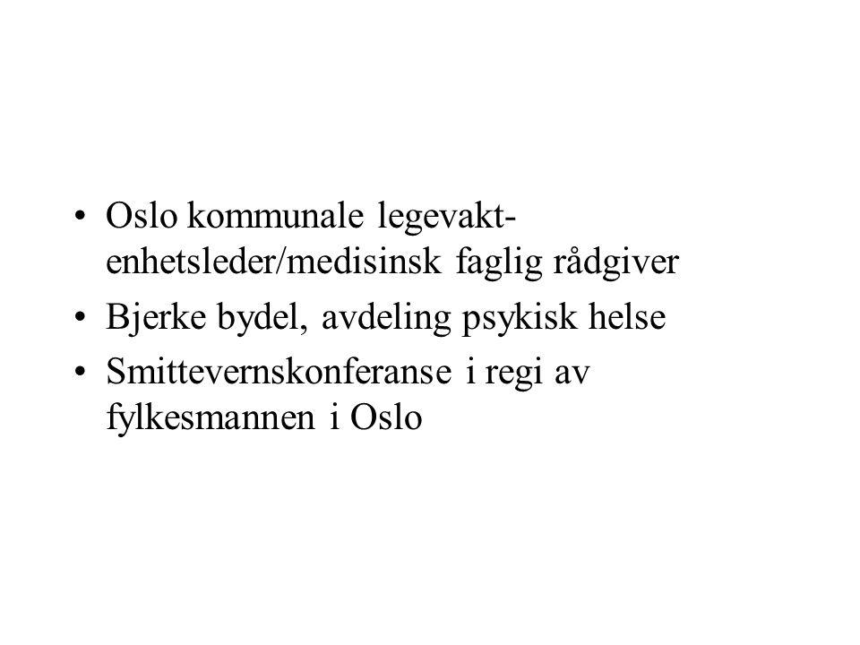 Oslo kommunale legevakt-enhetsleder/medisinsk faglig rådgiver