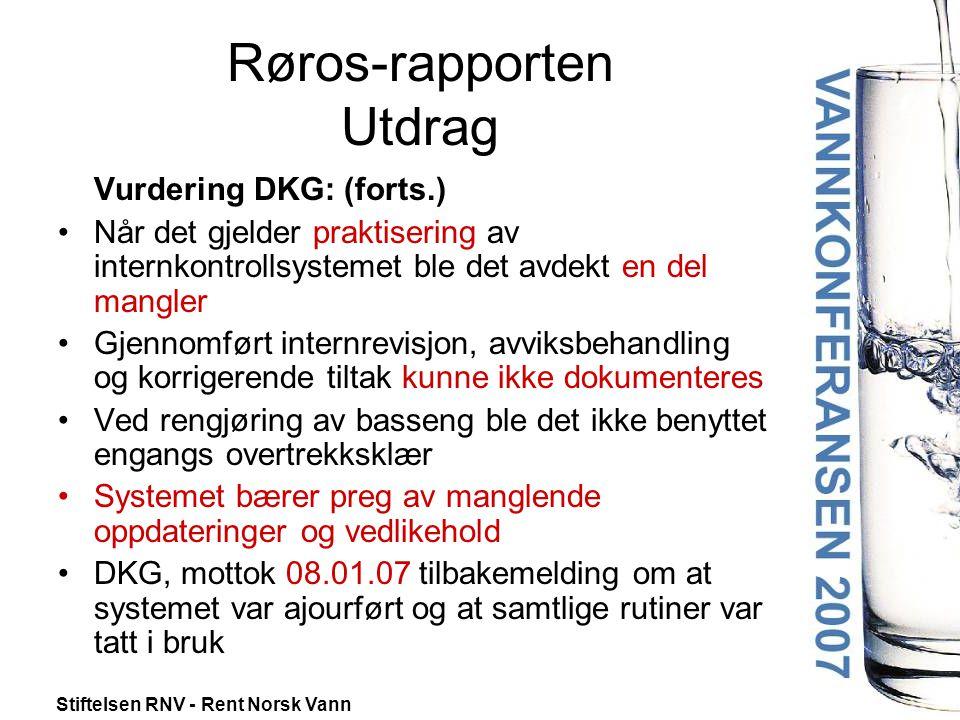 Røros-rapporten Utdrag