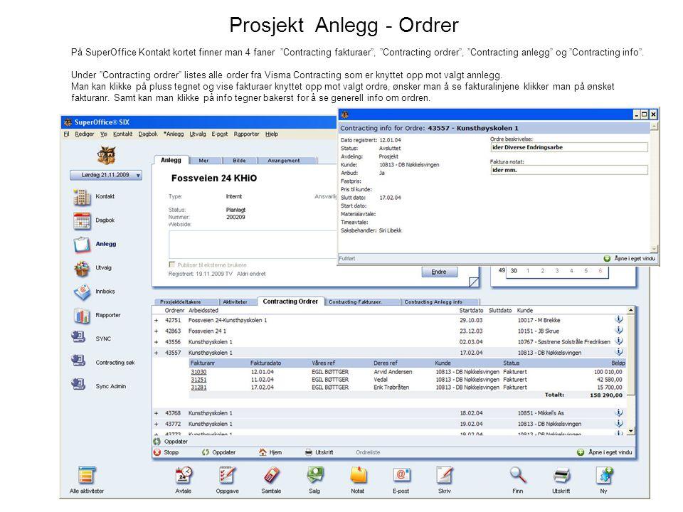Prosjekt Anlegg - Ordrer
