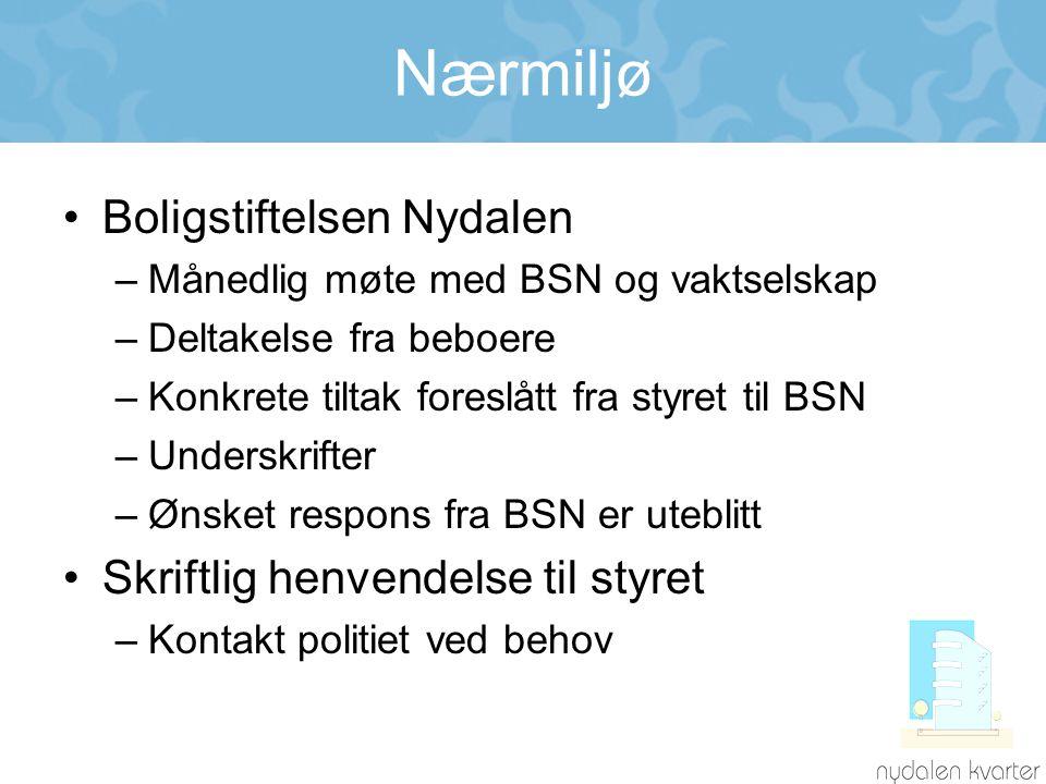 Nærmiljø Boligstiftelsen Nydalen Skriftlig henvendelse til styret