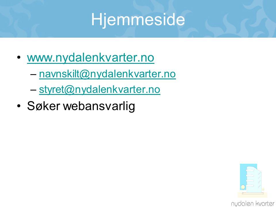 Hjemmeside www.nydalenkvarter.no Søker webansvarlig