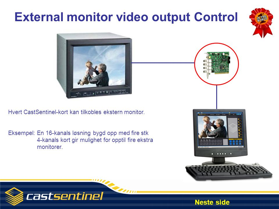External monitor video output Control