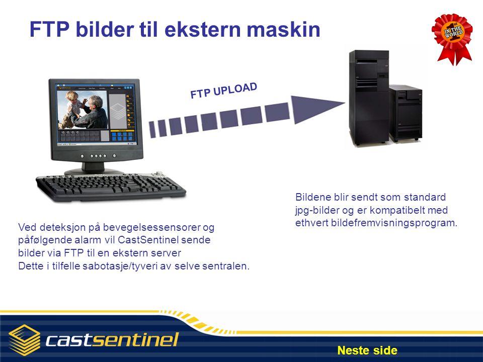 FTP bilder til ekstern maskin