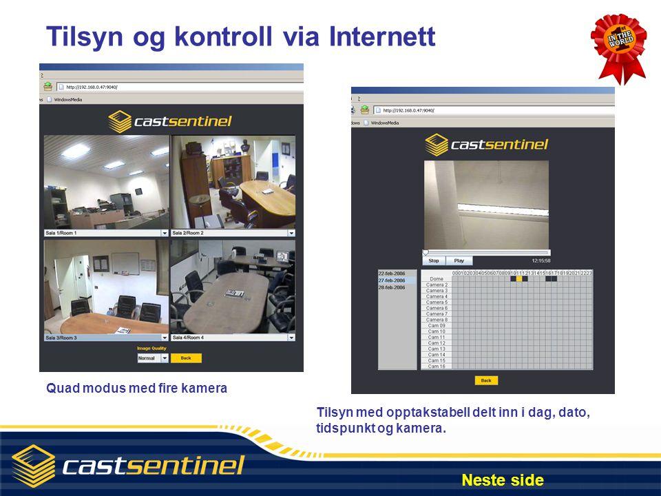Tilsyn og kontroll via Internett