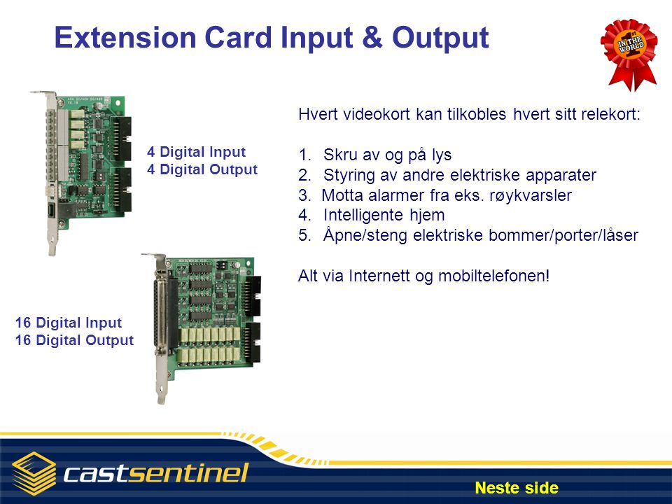 Extension Card Input & Output