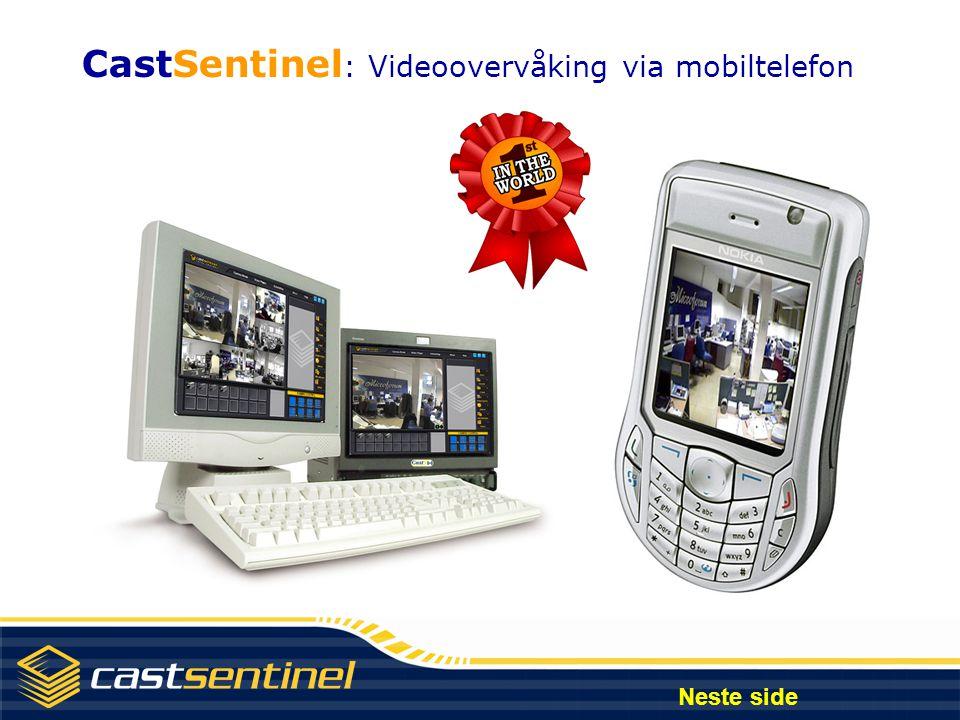 CastSentinel: Videoovervåking via mobiltelefon