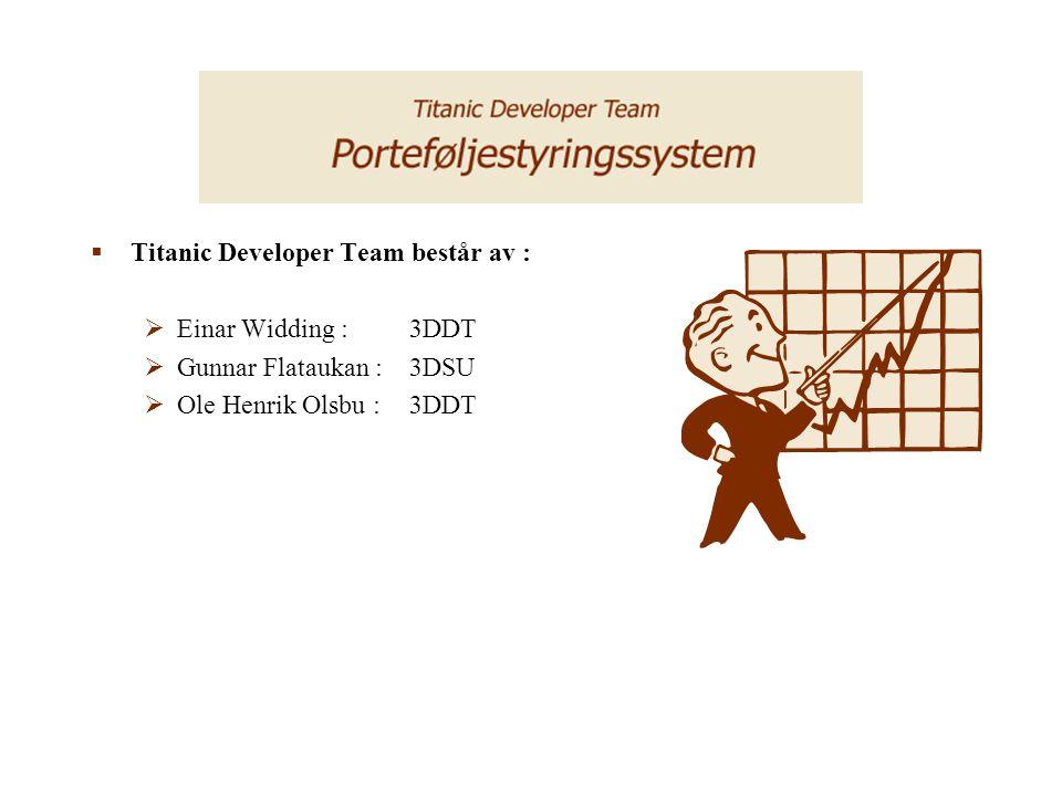Titanic Developer Team består av :