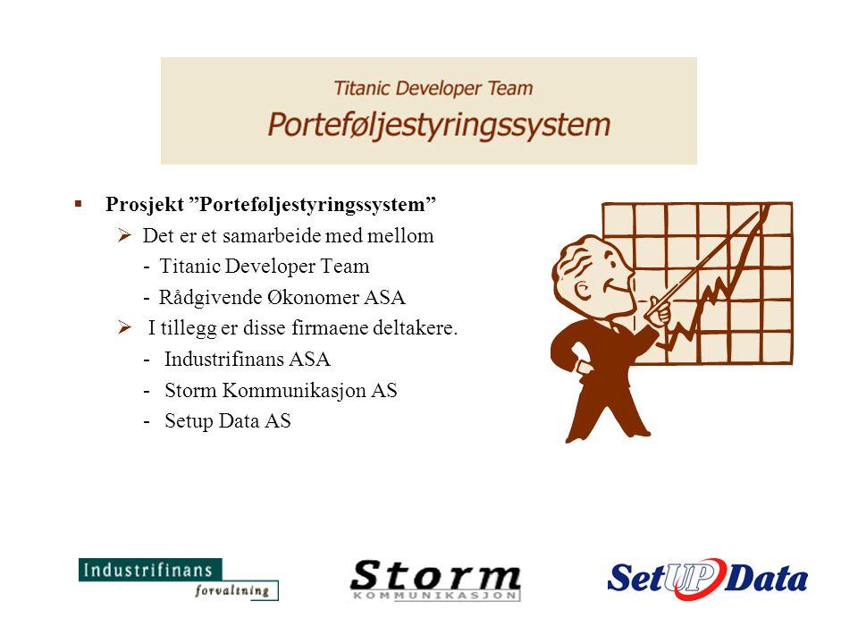 Prosjekt Porteføljestyringssystem