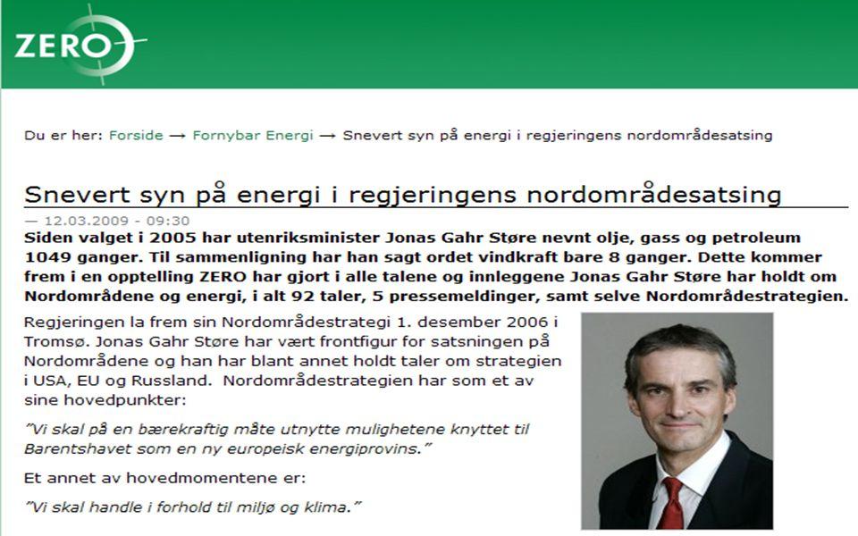 Energisektoren – utvidet perspektiv