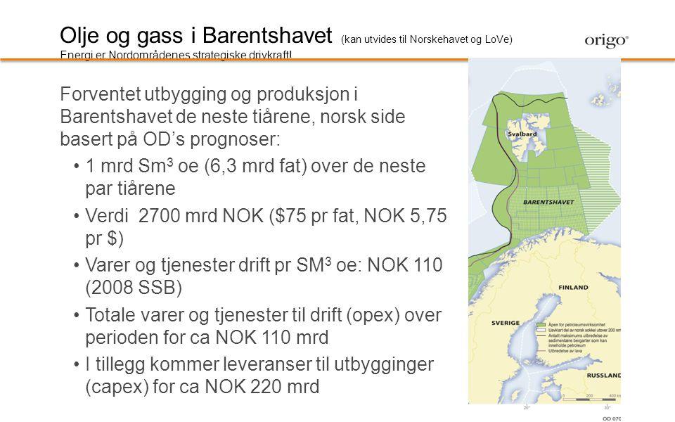 Olje og gass i Barentshavet (kan utvides til Norskehavet og LoVe)