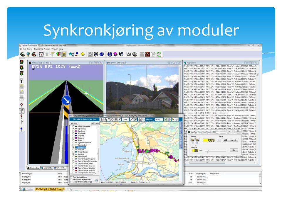 Synkronkjøring av moduler