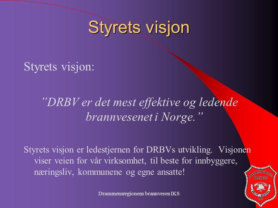 Styrets visjon Styrets visjon: