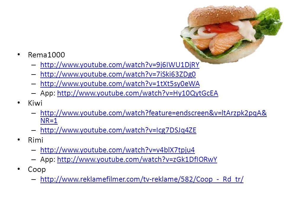 Rema1000 Kiwi Rimi Coop http://www.youtube.com/watch v=9j6IWU1DjRY