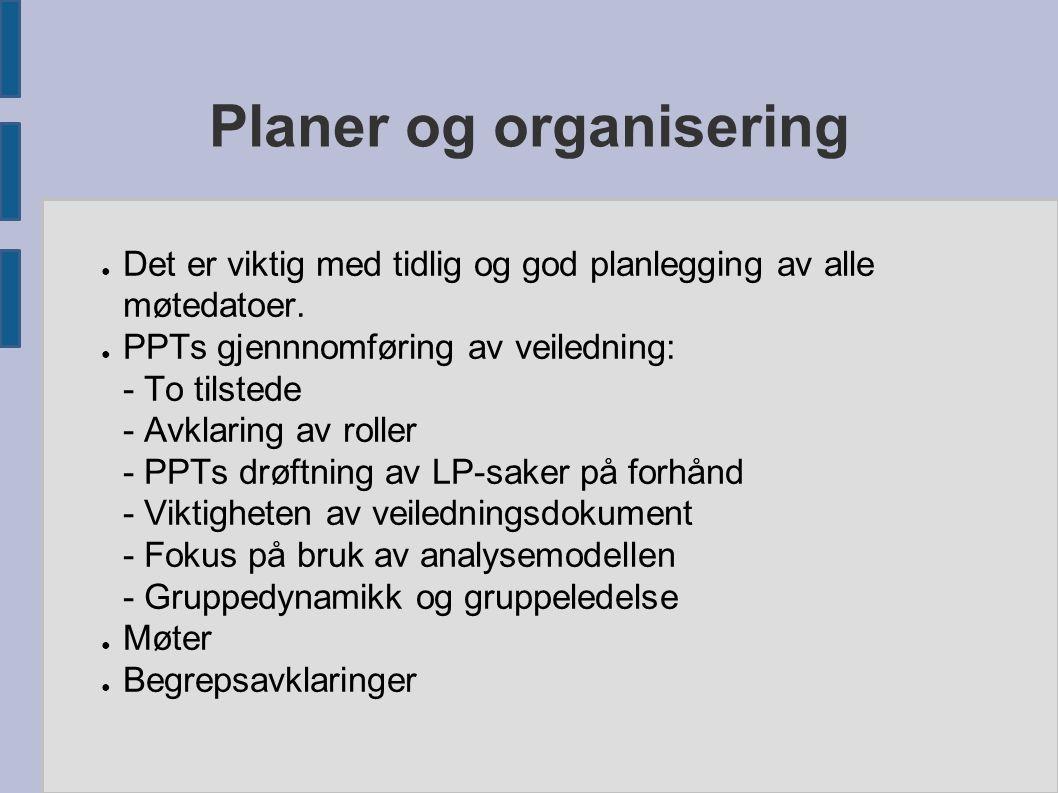 Planer og organisering