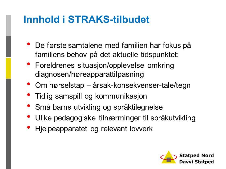 Innhold i STRAKS-tilbudet
