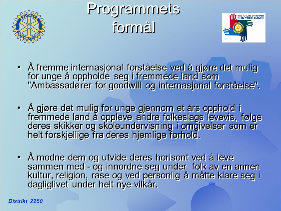 Programmets formål
