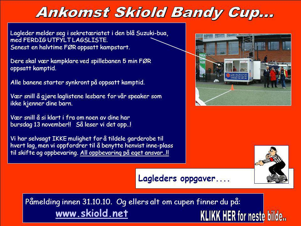 Ankomst Skiold Bandy Cup...