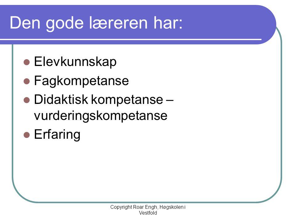 Copyright Roar Engh, Høgskolen i Vestfold