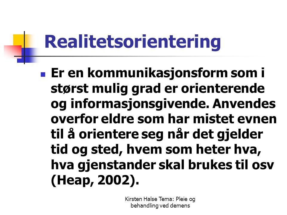 Realitetsorientering