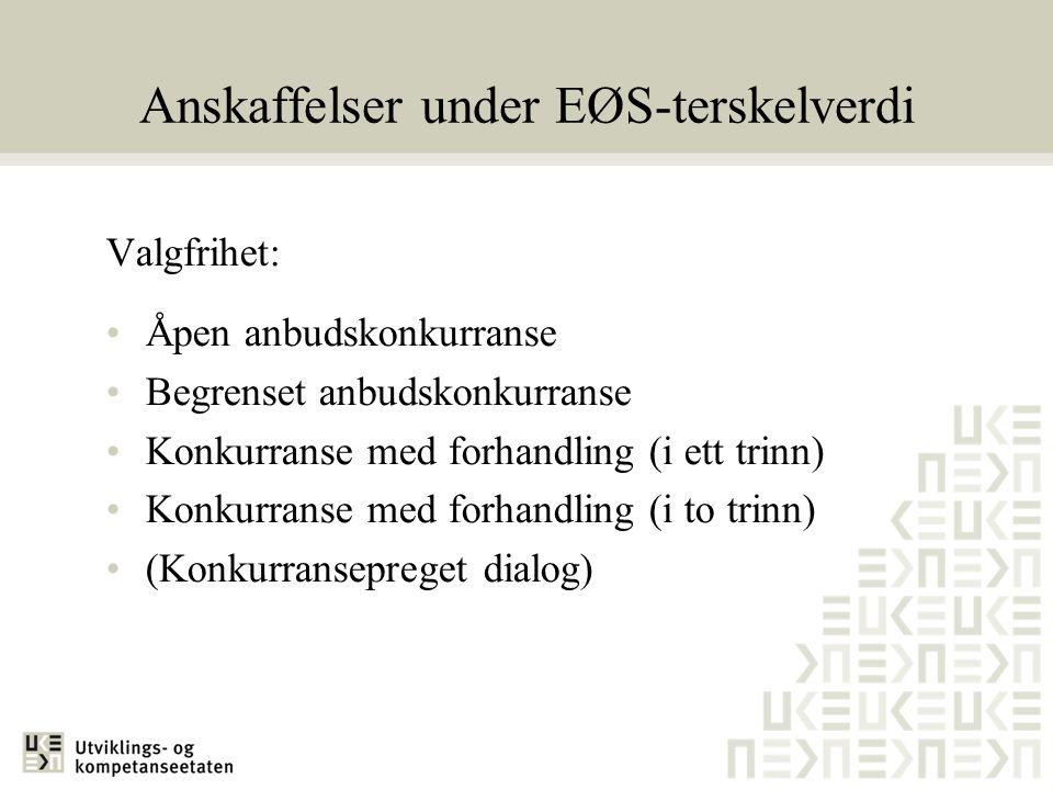 Anskaffelser under EØS-terskelverdi