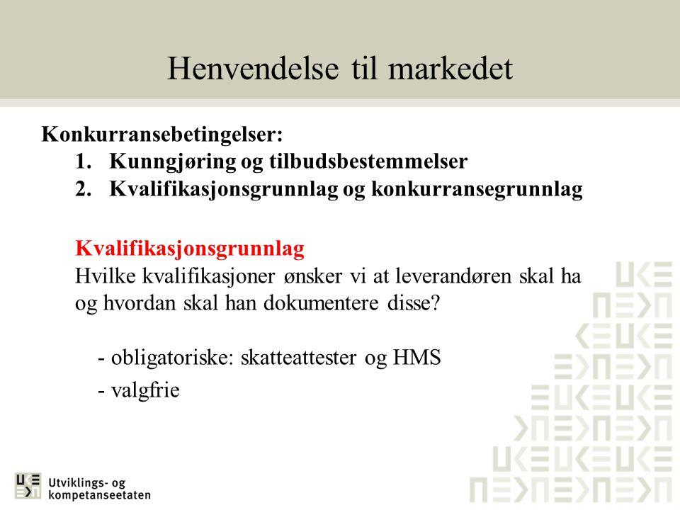 Henvendelse til markedet