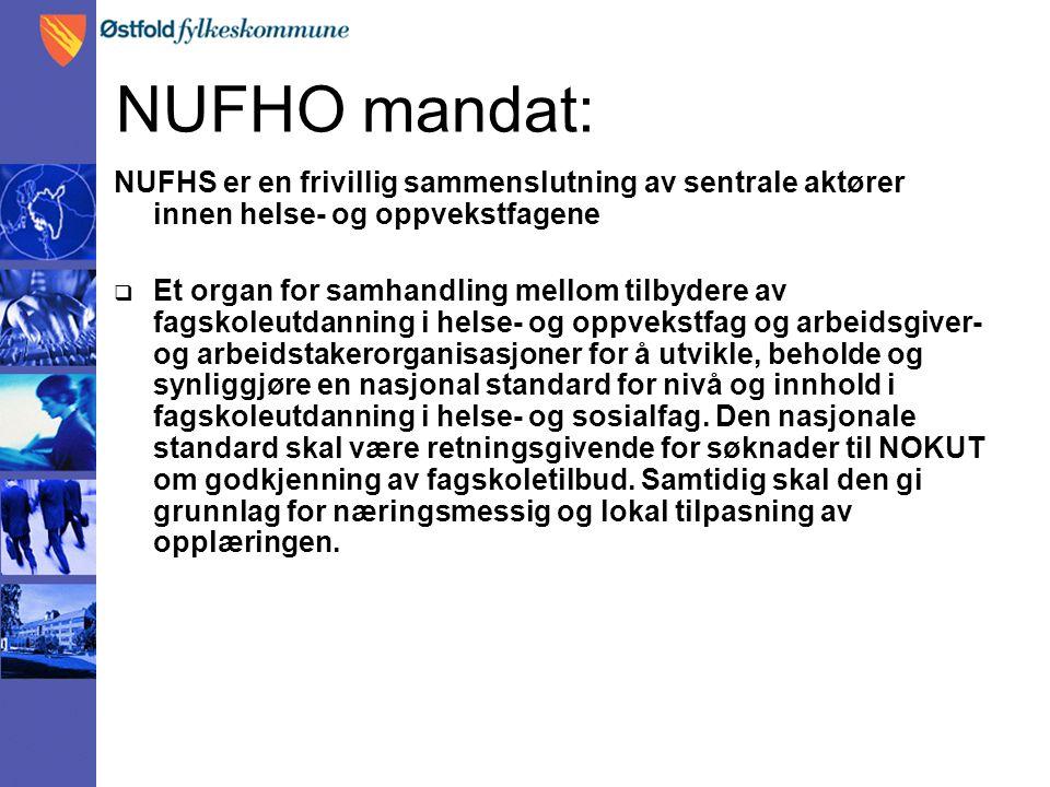 NUFHO mandat: NUFHS er en frivillig sammenslutning av sentrale aktører innen helse- og oppvekstfagene.