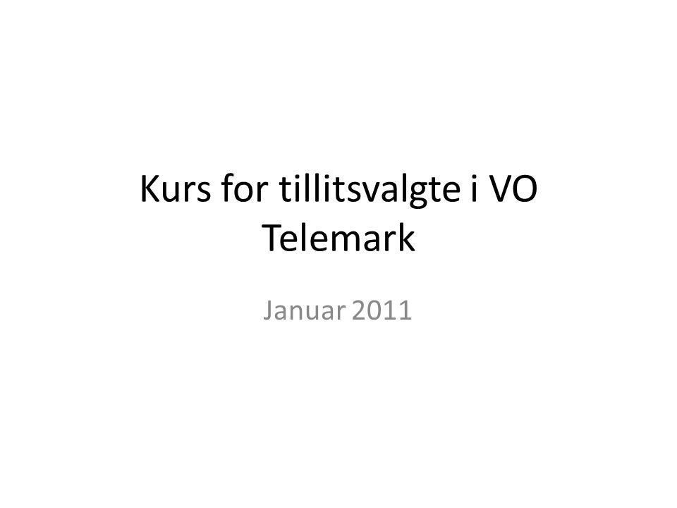 Kurs for tillitsvalgte i VO Telemark