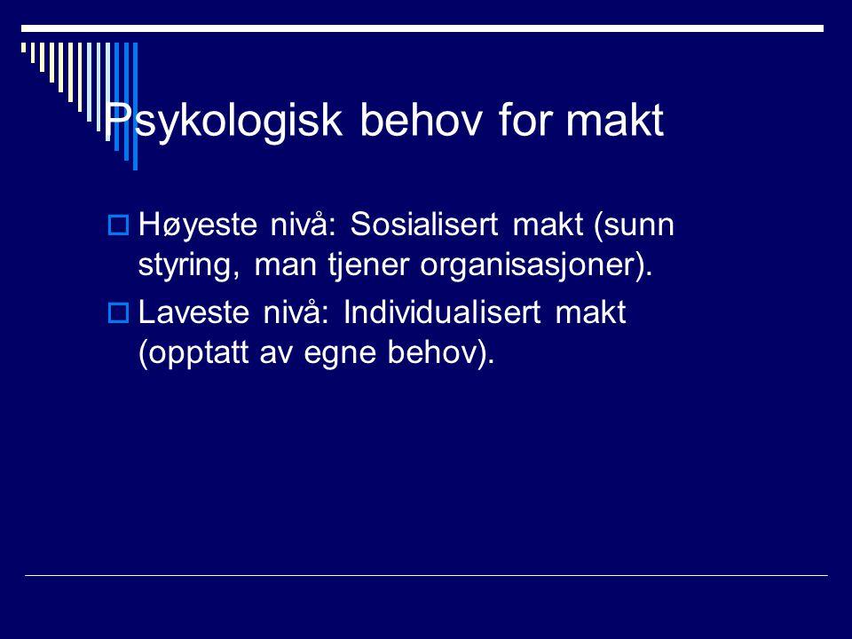 Psykologisk behov for makt