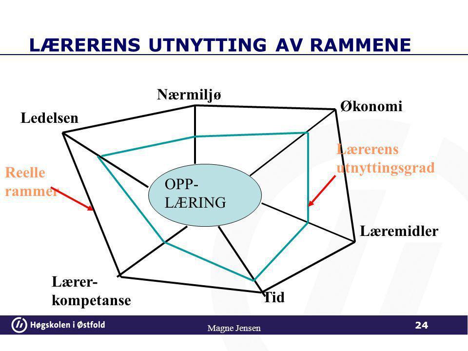 LÆRERENS UTNYTTING AV RAMMENE