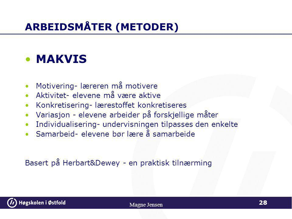 ARBEIDSMÅTER (METODER)
