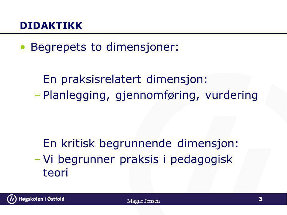 Begrepets to dimensjoner: En praksisrelatert dimensjon: