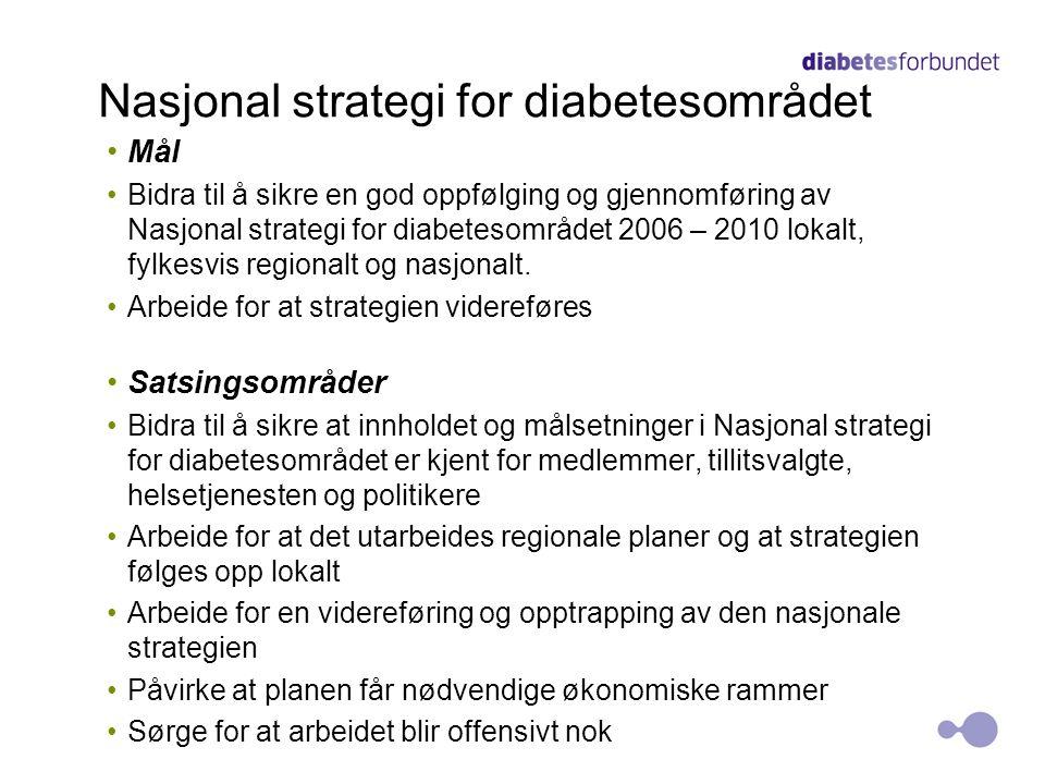 Nasjonal strategi for diabetesområdet