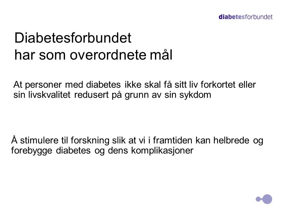 Diabetesforbundet har som overordnete mål
