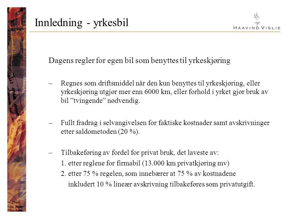 Innledning - firmabil Dagens regler Firmabilbeskatning - ppt video online laste ned