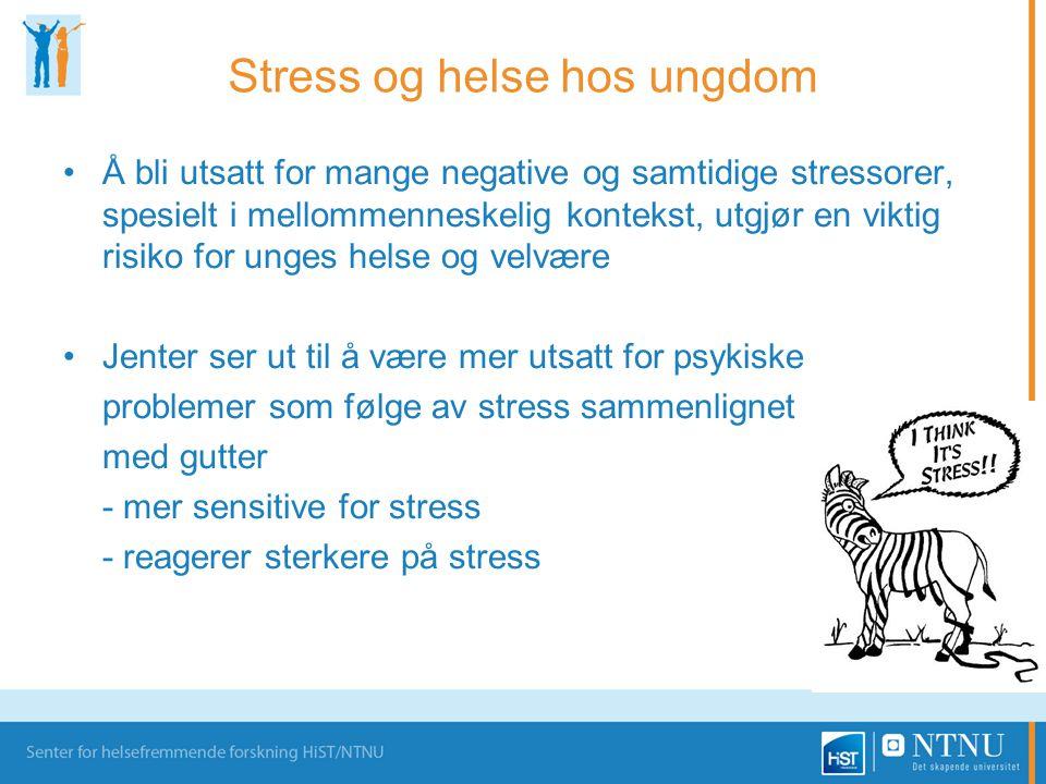 Stress og helse hos ungdom