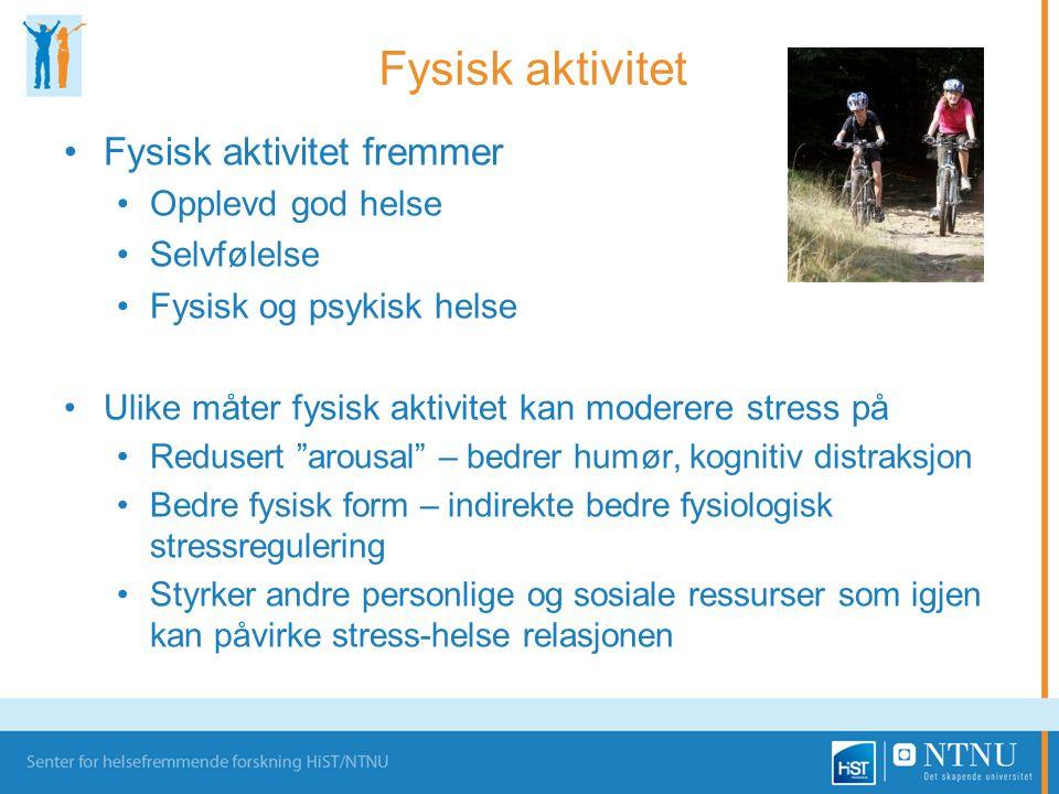 Fysisk aktivitet fremmer