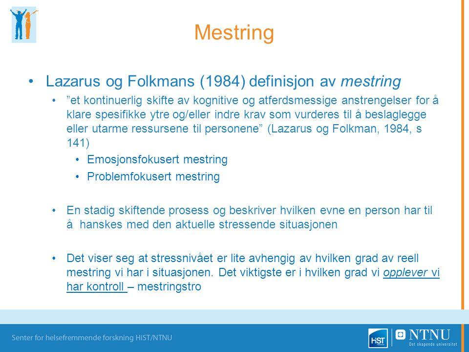 Mestring Lazarus og Folkmans (1984) definisjon av mestring