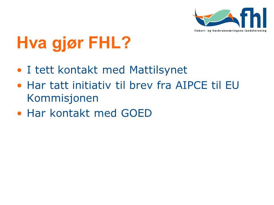 Hva gjør FHL I tett kontakt med Mattilsynet