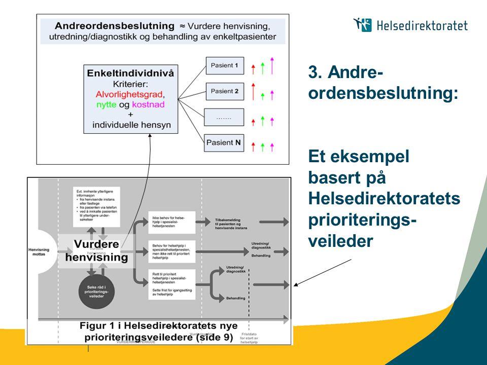 3. Andre-ordensbeslutning: Et eksempel basert på Helsedirektoratets prioriterings-veileder