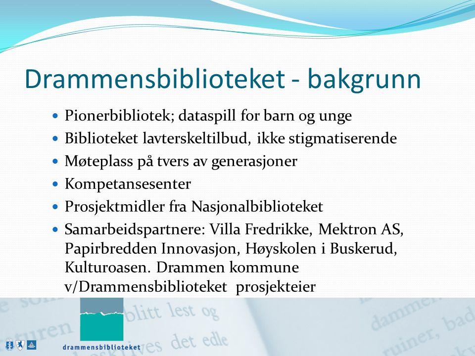 Drammensbiblioteket - bakgrunn