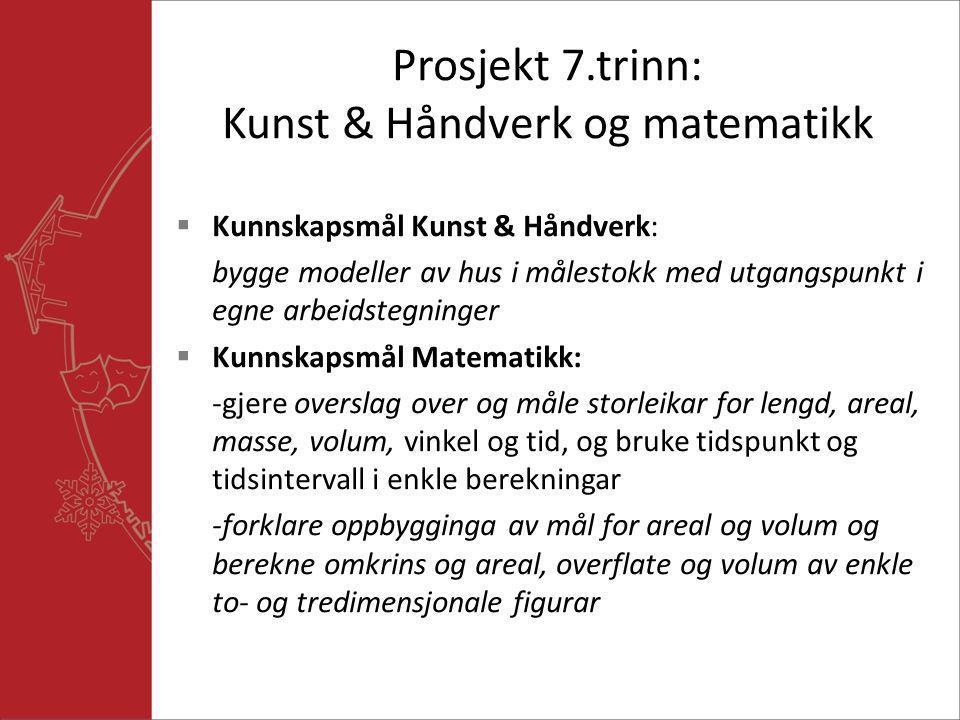 Prosjekt 7.trinn: Kunst & Håndverk og matematikk