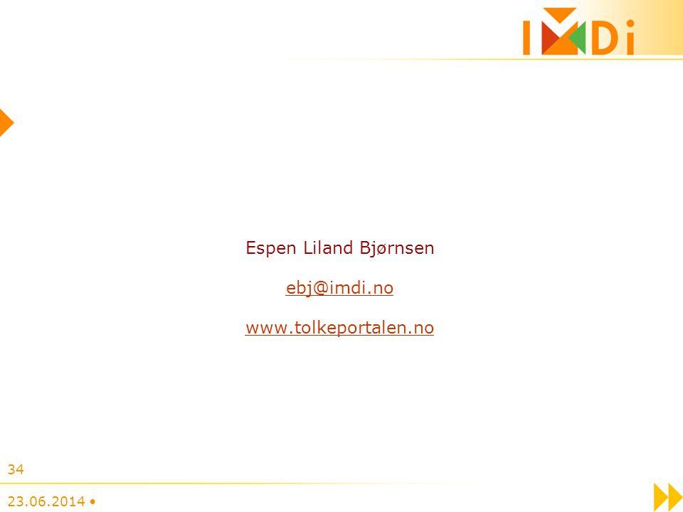 Espen Liland Bjørnsen ebj@imdi.no www.tolkeportalen.no