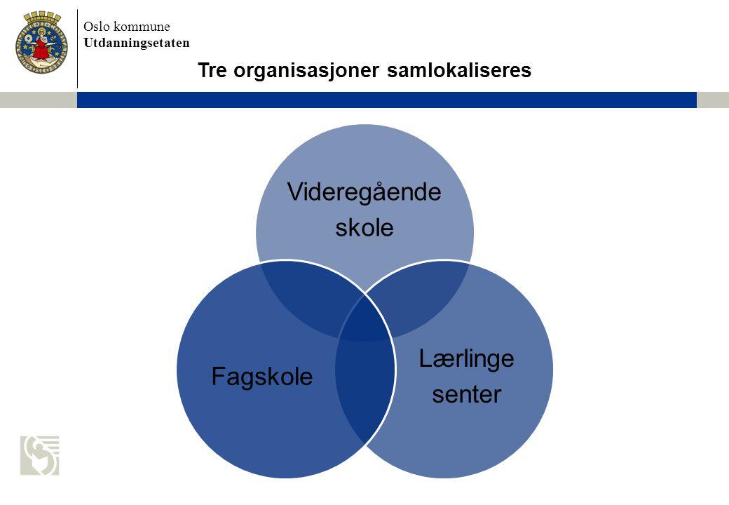 Tre organisasjoner samlokaliseres